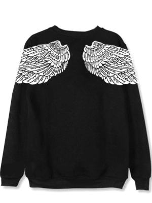 Taehyung Black Wings Sweater