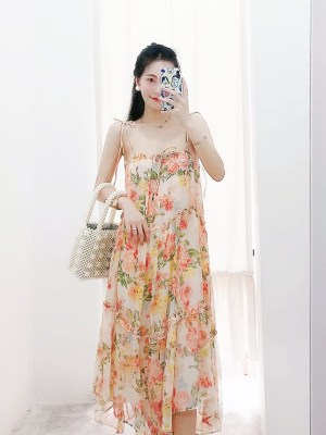 Dahyun Flowy Floral Sling Long Dress (12)