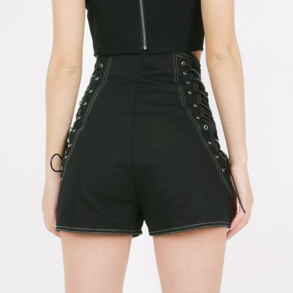 High Waist Sides Lace Shorts | Irene – Red Velvet