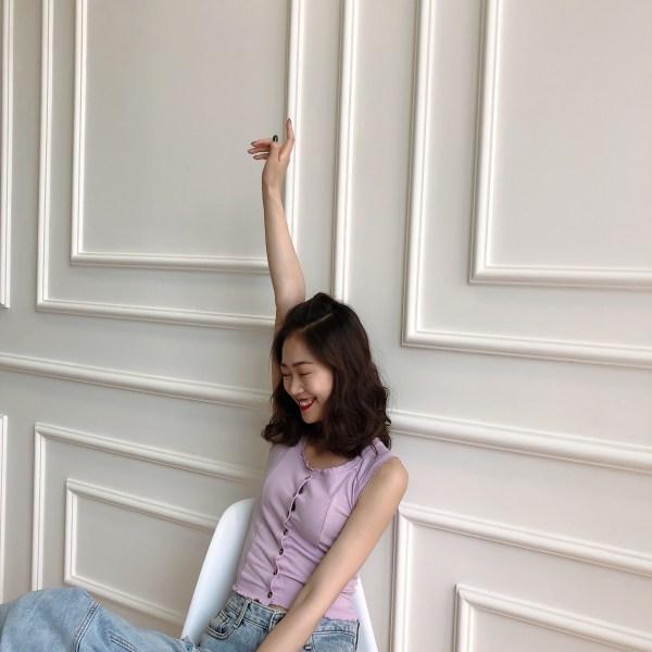 Lilac Sleeveless Top   Jennie – BlackPink