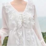 Front Lace Tie Ruffles Dress | Jeongyeon – Twice
