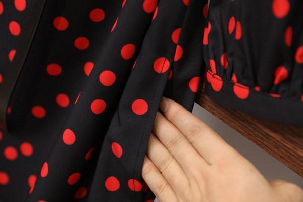 V-Neck Red Polka Dots Dress   Lisa – BlackPink