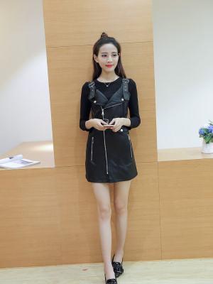Rose Black Leather Dress (9)