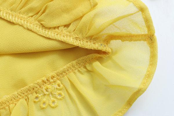 Yellow Openwork Embroidery Blouse | Sana – Twice