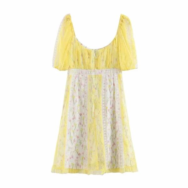 Yellow Floral Lace Dress   Wendy – Red Velvet