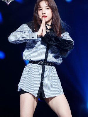 Striped Long Sleeve Lace Shirt | Yuqi – (G)I-DLE