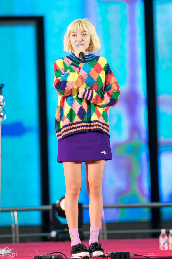 Colorful Diamond Pattern Sweater | Ahn Ji Young