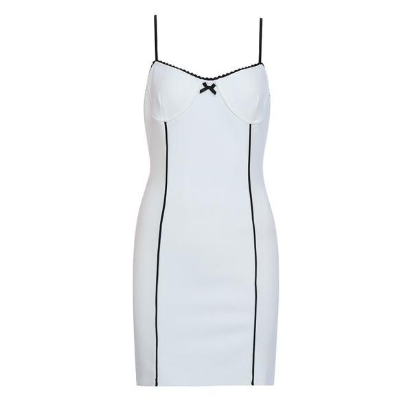 White and Black Mini Dress | Rose – BlackPink