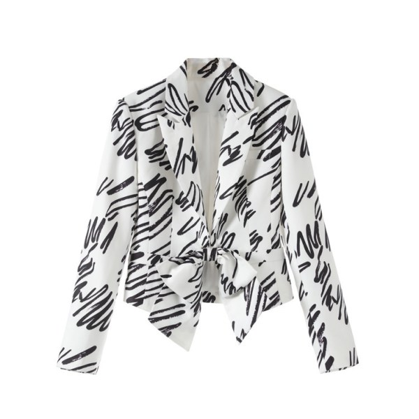 Graffiti Lines Bow Blazer | Seulgi – Red Velvet