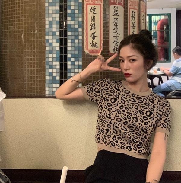 Leopard Spots Print Top   Seulgi – Red Velvet