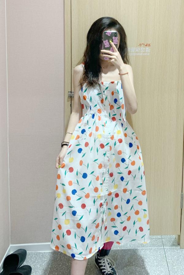 Cherry Print Sleeveless Dress | Tzuyu – Twice