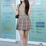 Lattice Pleated Plaid Beige Skirt | Jisoo – BlackPink