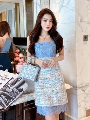 Sky Blue Dress Jennie – BlackPink (5)