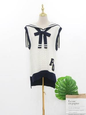 Yuqi Sailor Type Knitted Sweater Vest (18)