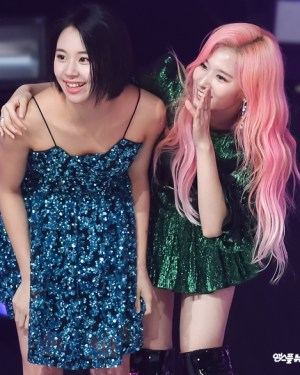 Blue Sequin Sling Dress | Chaeyoung – Twice