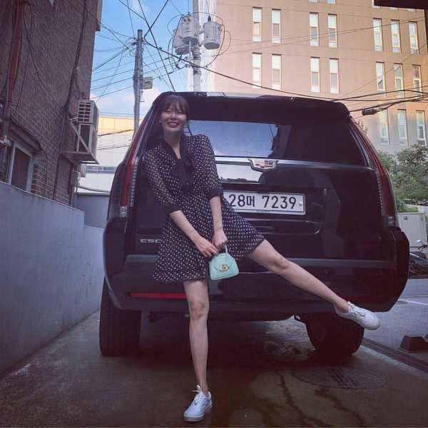 Polka Dots Black Dress | Hyuna