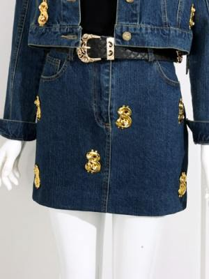 IU Dollar Sign Denim Skirt (5)-min