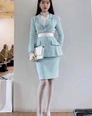 Pastel Blue Skirt | IU – Hotel Del Luna