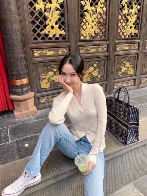 Jennie V-Neck Slim Fit Buttons Cardigan (3)
