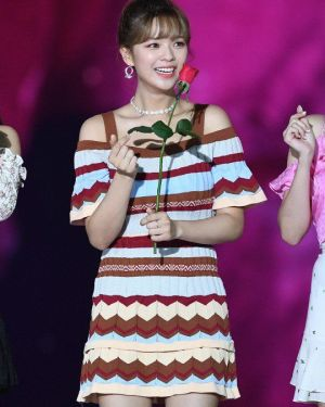 Sling Zigzag Striped Dress | Jeongyeon – Twice