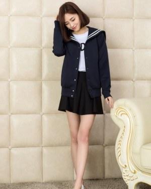Suga Blue College Jacket (5)