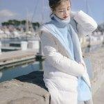 Light Blue High Collar Long Sweater | Wendy – Red Velvet