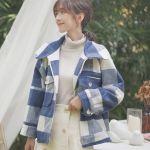 Blue Checkerd Flannel Design Jacket