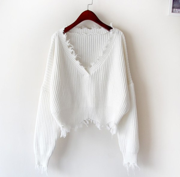 V-Neck Tassels Knit Sweater | Lisa – BlackPink