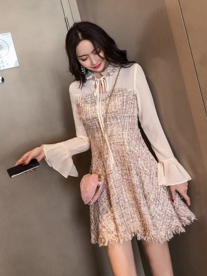 Mina Long Sleeves Chiffon Dress (6)