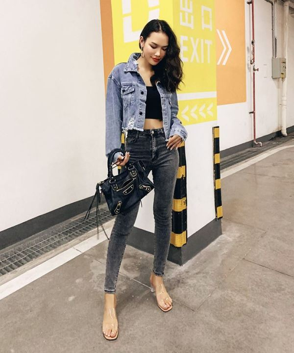 Ripped Cropped Jeans Jacket