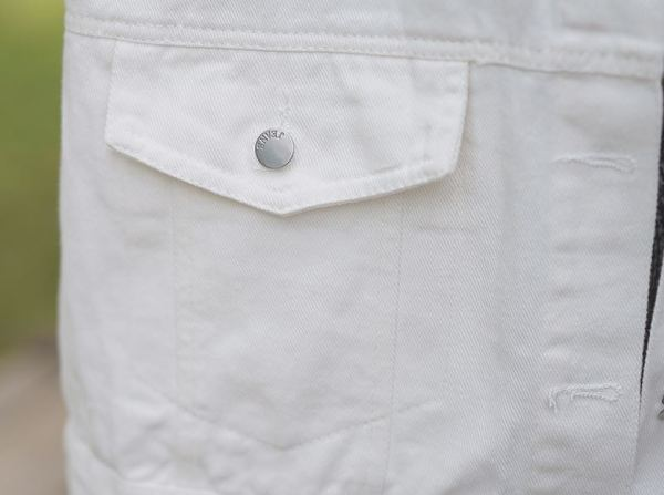 White Regular Denim Jacket