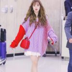 Lilac Red Loose Knit Sweater | Yuqi – (G)I-DLE