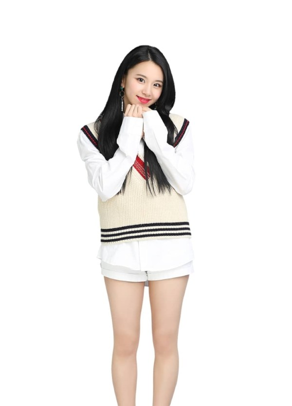 V-neck Sleeveless Loose Knit Vest | Chaeyoung – Twice