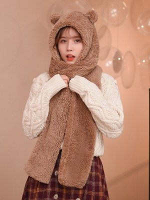 Jennie Bear Ears Winter Scarf Hat (10)