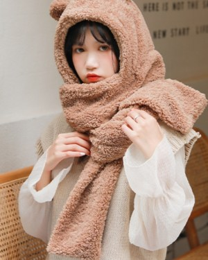 Jennie Bear Ears Winter Scarf Hat (3)
