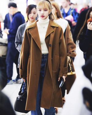 Long Brown Coat | Lisa – BlackPink