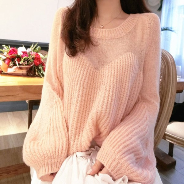 Oversized Partly See-through Sweater | Momo – Twice