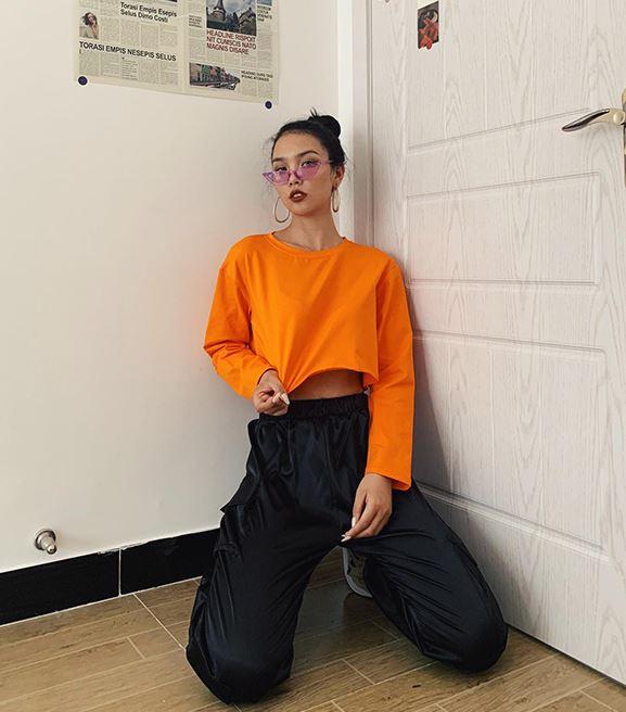 Plain Cropped Shirt