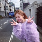 Lilac Fringed Hairy Sweater | Hyuna