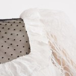 Turtleneck White Long Sleeve Lace Blouse | Hyuna