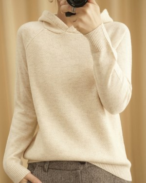 Irene Hooded Knit Sweater (1)