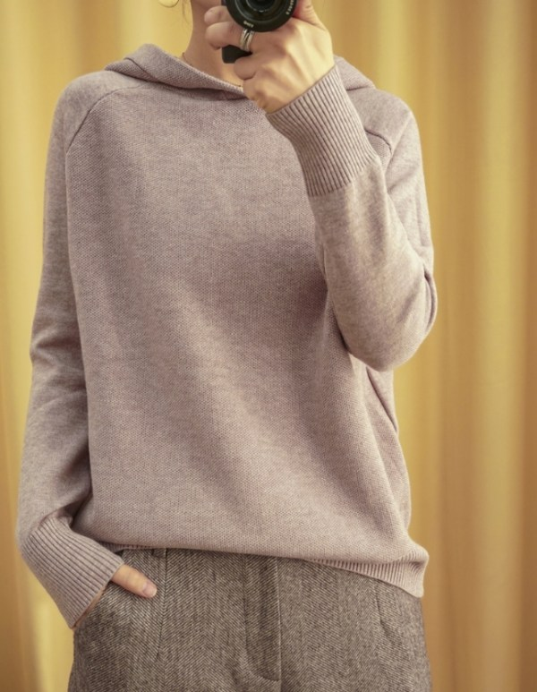 Hooded Knit Sweater | Irene – Red Velvet