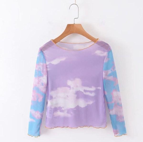 Dreamy Clouds Mesh T-Shirt | Jennie – BlackPink