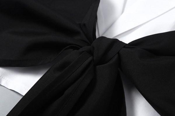 Ribbon Chest Wrap Layered Crop Shirt | Jennie – BlackPink