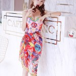 Colorful Baroque Style One Piece Swimsuit | Solar – Mamamoo