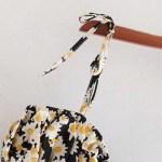 Flower Print Cami Black Dress | Rose – BlackPink