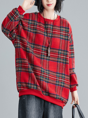 Suho Plaid Flannel Sweater 1