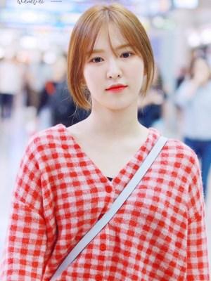 Red Plaid Grid Cardigan | Wendy – Red Velvet