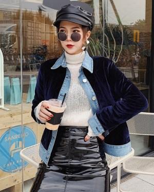 Yeri Velvet Polo Collar Jacket (32)