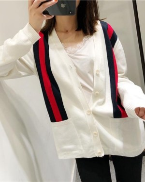 Felix Striped Multicolor Lines Cardigan 1